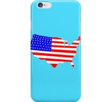 USA Map Flag, Stars and Stripes Map iPhone Case/Skin