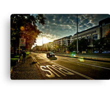 Backlight City Canvas Print