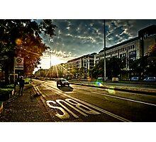 Backlight City Photographic Print