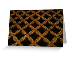 Gold grate Greeting Card