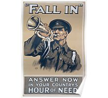 Fall in Answer now in your countrys hour of need 206 Poster