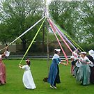 Weaving The Ribbon Of The May Pole by Jane Neill-Hancock