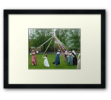 Weaving The Ribbon Of The May Pole Framed Print