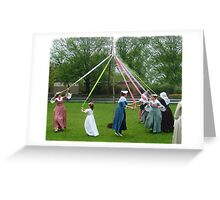Weaving The Ribbon Of The May Pole Greeting Card