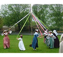 Weaving The Ribbon Of The May Pole Photographic Print