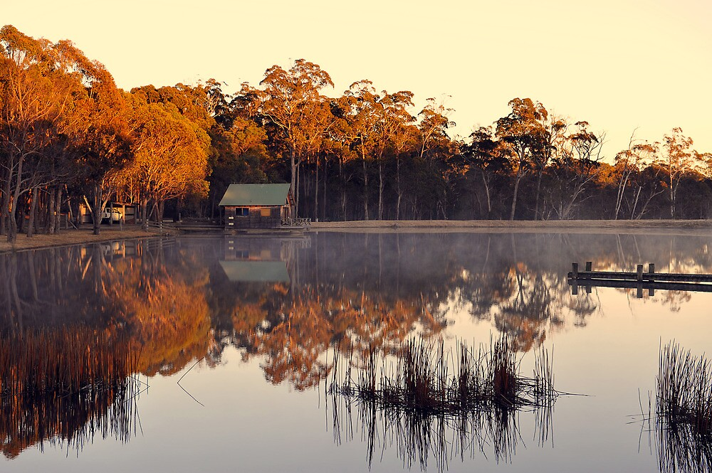 Bush Retreat At Sunrise. Tenterfield, NSW, Australia. by Ralph de Zilva