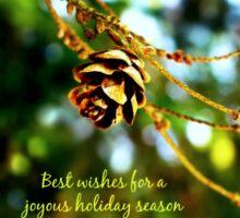 Joyous Holiday Season Sticker