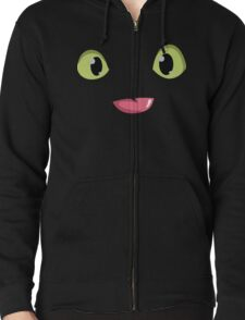 Toothless Face Zipped Hoodie