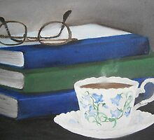 A Cuppa and a Good Book  by Meaghan Louise