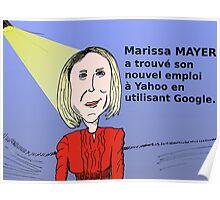 Caricature de Marissa MAYER PDG de Yahoo! Poster