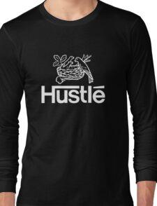 Hustlé - white print Long Sleeve T-Shirt