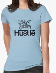 Hustlé - black print Womens Fitted T-Shirt