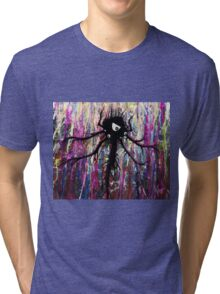 Incompletionist Ink Painting Creature Tri-blend T-Shirt