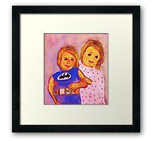 Granpa's Darlin's, watercolor Framed Print