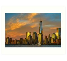 Sunset from Liberty Park Art Print