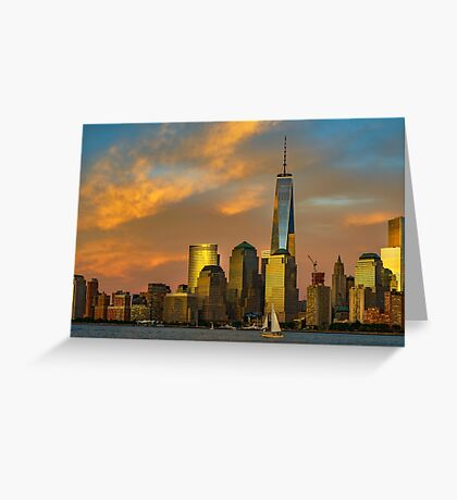 Sunset from Liberty Park Greeting Card