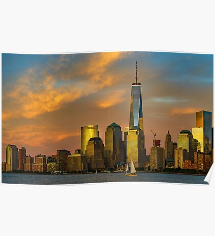 Sunset from Liberty Park Poster