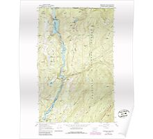 USGS Topo Map Washington State WA Boundary Dam 240168 1967 24000 Poster
