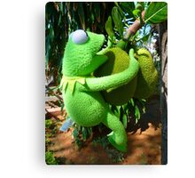 Jack Fruit Green Large Frog Kermit Canvas Print