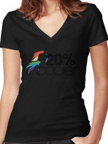 20% Cooler! (ALL options) - WHITE Women's Fitted V-Neck T-Shirt