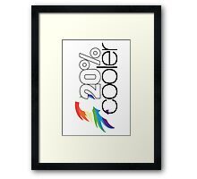 20% Cooler! (ALL options) - WHITE Framed Print