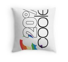 20% Cooler! (ALL options) - WHITE Throw Pillow
