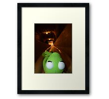 Frog Kermit Slip Mine Salt Mine Framed Print