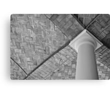 Empty Library Room Ceiling Canvas Print