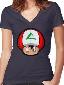 Ash-Shroom Women's Fitted V-Neck T-Shirt