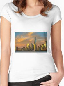 Sunset from Liberty Park Women's Fitted Scoop T-Shirt