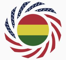 Bolivian American Multinational Patriot Flag Series Kids Tee