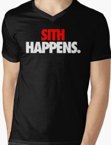 SITH HAPPENS. Mens V-Neck T-Shirt