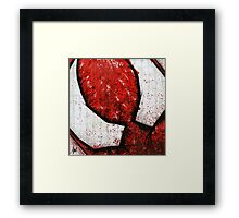 Man of the Spider Abstract Framed Print