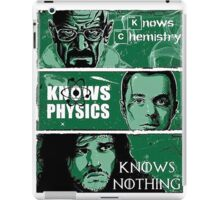 Knowing Chemistry Physics Nothing Breaking Bad iPad Case/Skin