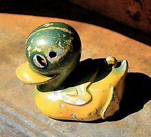 Old Toy Duck in a Tin Bath by AndyLanhamArt
