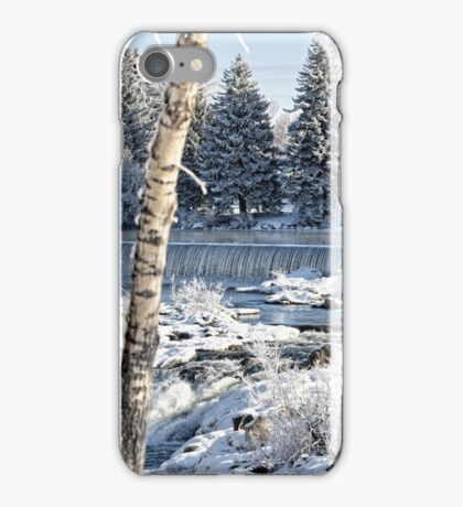 Winter Snow - Between The Trees On The Falls iPhone Case/Skin