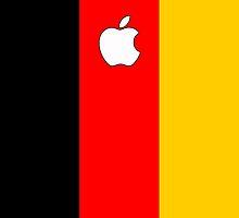 Germany flag iPhone case by mattiaterrando
