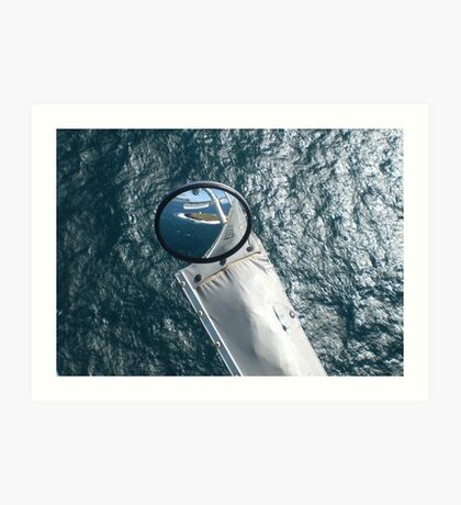 Helicopter Mirror Reflection Art Print