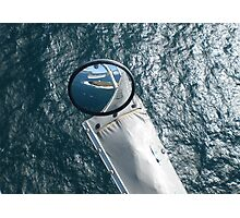 Helicopter Mirror Reflection Photographic Print