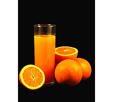 Orange Juice Photographic Print