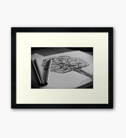 make trees out of paper Framed Print