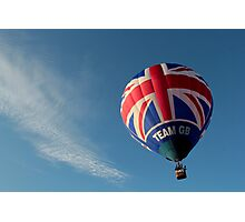 Team GB in the sky! Photographic Print