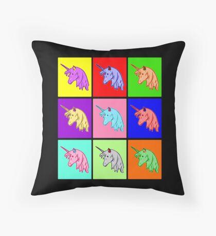 Pop Art Unicorn Throw Pillow