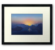 Lazy Robinson Canoe Framed Print