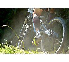 mountain biking Photographic Print