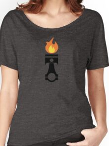 Flaming Piston (fire black) Women's Relaxed Fit T-Shirt