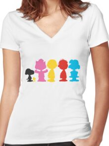 Peanuts Women's Fitted V-Neck T-Shirt