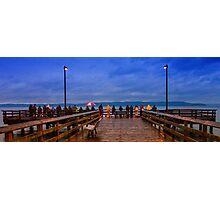 Redondo Beach Pier Fishers Photographic Print