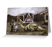 Hadrosaur Tent Show Greeting Card