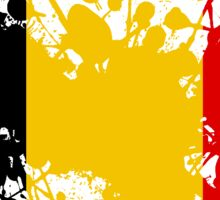 Paint Splatter Flag of Belgium Sticker